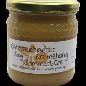 Österreichischer Cremehonig Sommerblüte 500g – intensiver, fruchtiger Geschmack